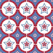 American colored stars pattern — Stock Vector #5679937
