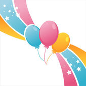 Birthday balloons background — Stock Vector