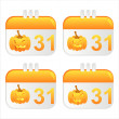 Halloween calendar icons — Stock Vector #5699934