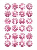 Web rosa zeichen — Stockvektor