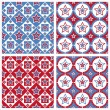 Cute american colored stars patterns — Vettoriali Stock