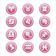 Pink zodiac signs - Stock Vector