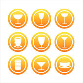 Orange drink signs — Stock Vector