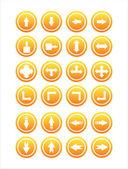 Orange arrows signs — Stock Vector