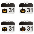 Halloween calendar icons — Stock Vector #5725338