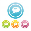 Royalty-Free Stock Vector Image: Colorful speech balloons signs