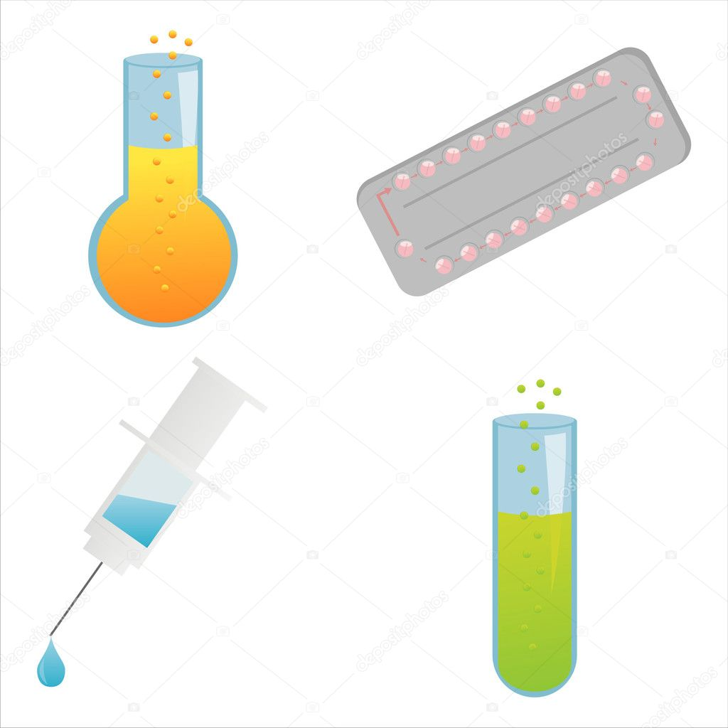 Set of 4 medical icons  Stock Vector #5725531