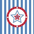 American colored stars background — Vettoriali Stock