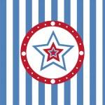 Amerikaanse gekleurde sterren achtergrond — Stockvector
