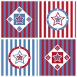Cute american colored stars backgrounds — 图库矢量图片
