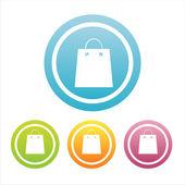ショッピングのカラフルな標識 — ストックベクタ