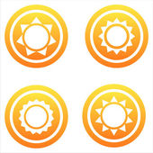Orange sun signs — Stock Vector