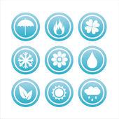 Signos de naturaleza azul — Vector de stock