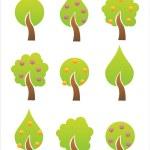 Tree icons — Stock Vector #5859375