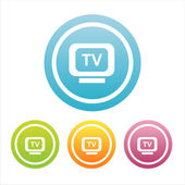 Colorful tv signs — Stock Vector
