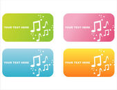 Colorful musical banners — Stock Vector