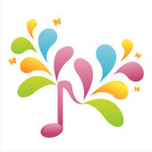 Colorful musical note — Vettoriale Stock