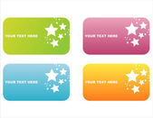 Colorful star banners — Stock Vector