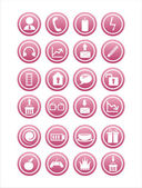 Web pink signs — Stock Vector