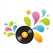 Vinyl record background — Vettoriale Stock