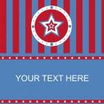 carte de stars américaines de couleur — Vecteur