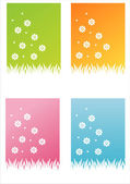 Colorful floral backgrounds — Stock Vector