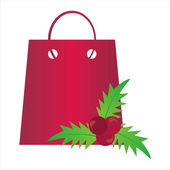 Christmas shopping bag — Stock Vector