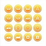 Orange laundry signs — Stock Vector