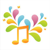 Musical note background — Stockvector