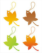 Autumn tags — Stock Vector