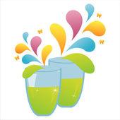 Bebida aislado en blanco — Vector de stock