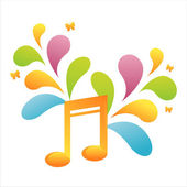 Musical note background — Vettoriale Stock