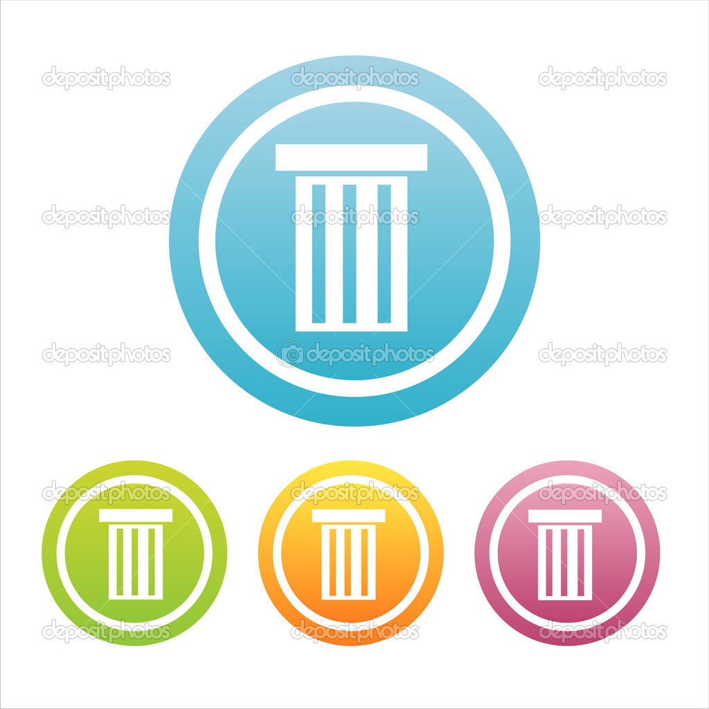 多彩垃圾桶标志