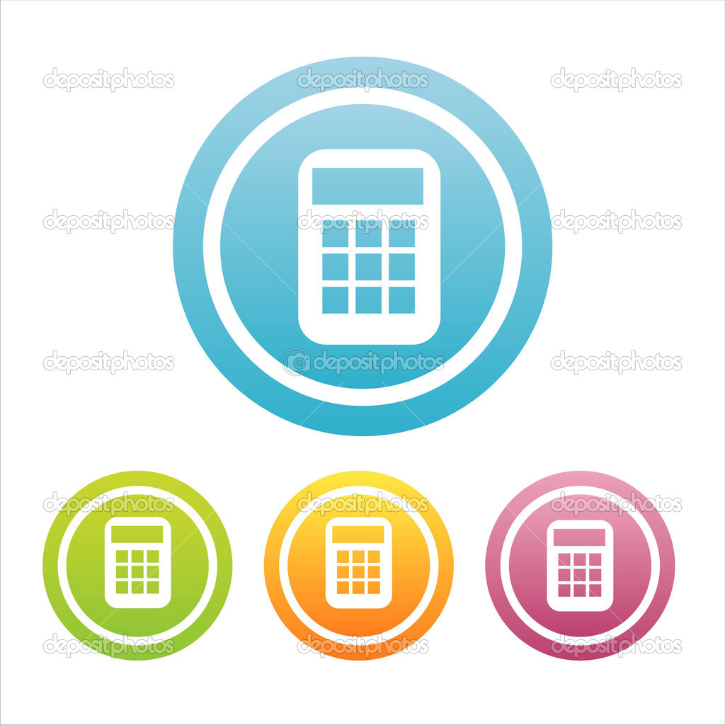 Set of 4 colorful calculator signs — Stock Vector #5986745