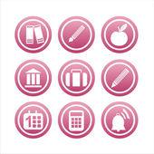 Sinais da escola-de-rosa — Vetor de Stock