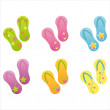 Colorful flip flops — Stock Vector