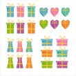 Gift icons — Stock Vector #6062243