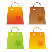Autumn shopping bags — Vettoriale Stock