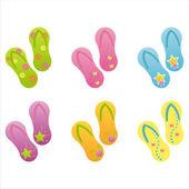 Colorful flip flops — Stock Vector