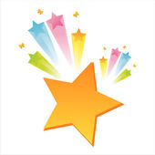 Star with colorful splash — Stock Vector
