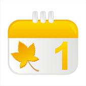 Autumn calendar icon — Stock Vector
