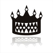 Crown silhouette — Stock Vector