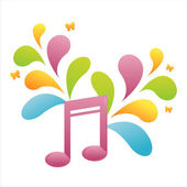 Musical note background — Vecteur
