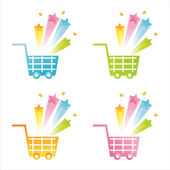 Baskets with splashes — Stock Vector