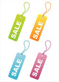 Colorful sale tags — Stock Vector