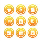 Sinais de compras laranja — Vetorial Stock