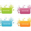 Colorful butterfly frames — Stock Vector #6096013