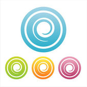 Colorful swirl signs — Vecteur