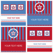 Cute american colored stars frames — Vettoriali Stock