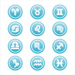 Blue zodiac signs - Stock Vector